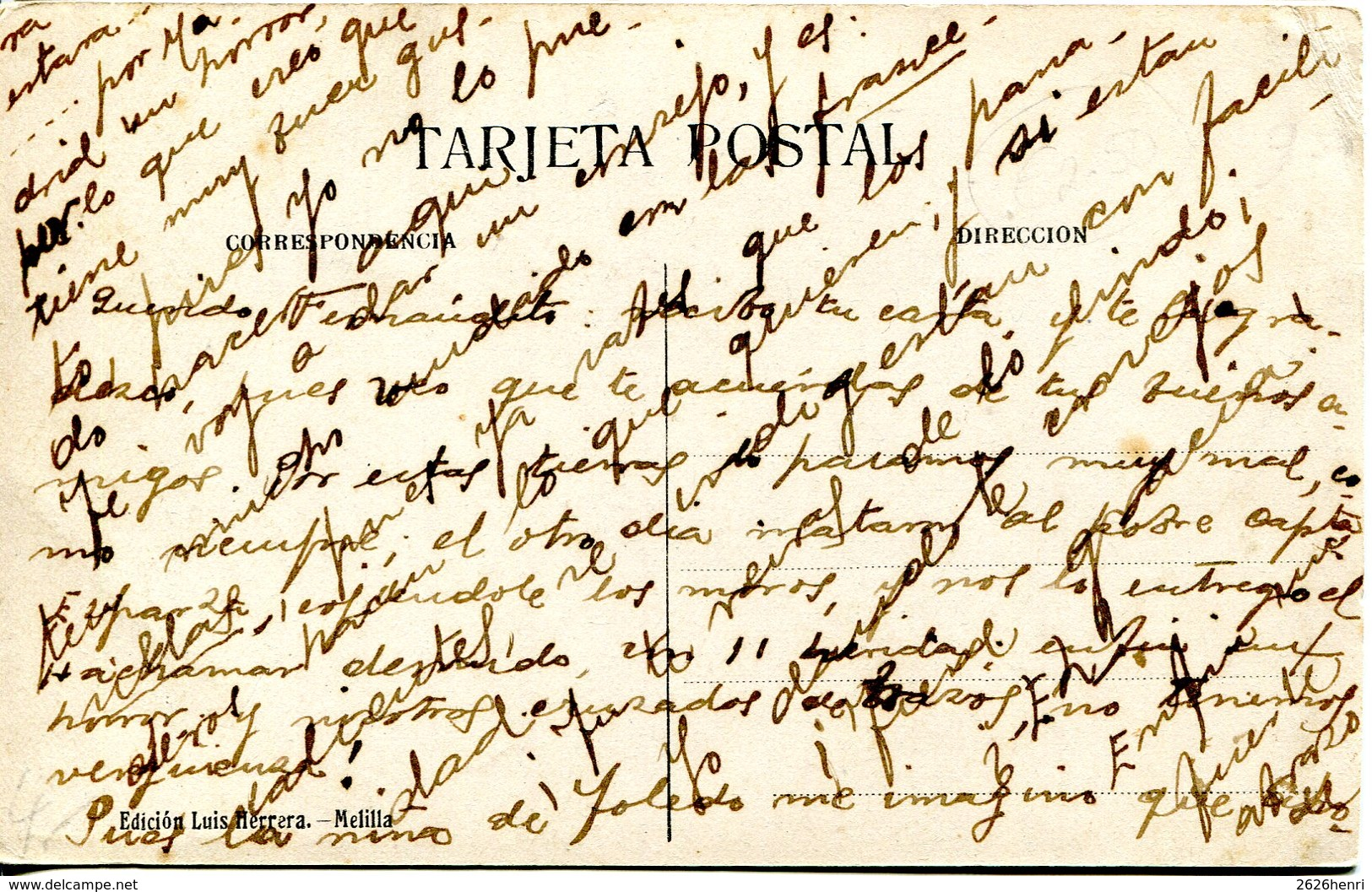 Maroc - Moro De M'talza. CPA écrite 1917 - Maroc