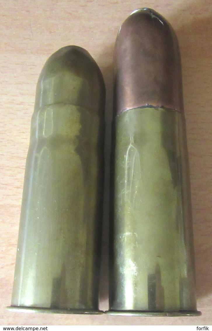 Guerre 14-18 - Artisanat De Tranchées - 1 Briquet Et Une Boîte à Mitraille De Poilus 37 Mm- Détails Dans La Description - 1914-18
