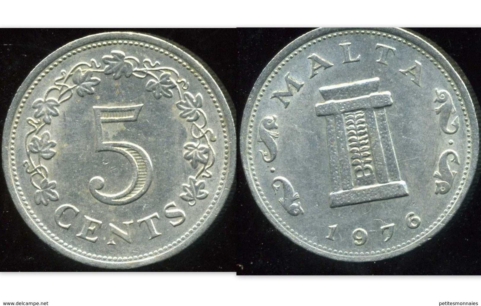 MALTE 5 Cents 1976 - Malte