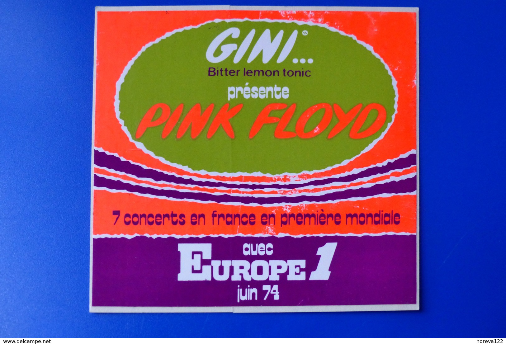 A.C.  1974 Gini Présente PINK FLOYD Avec Europe1 - Stickers