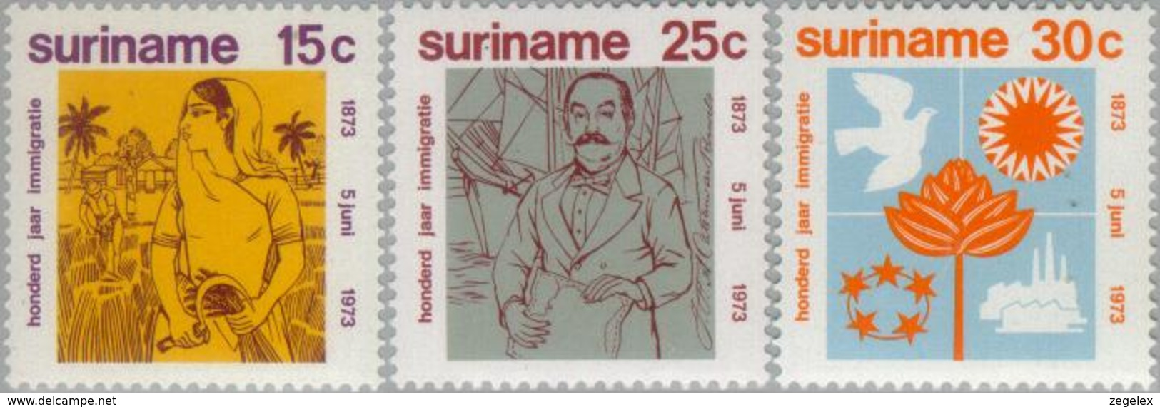 Suriname 1973 British-Indian Immigration - NVPH 600 MNH** Postfris - Suriname ... - 1975