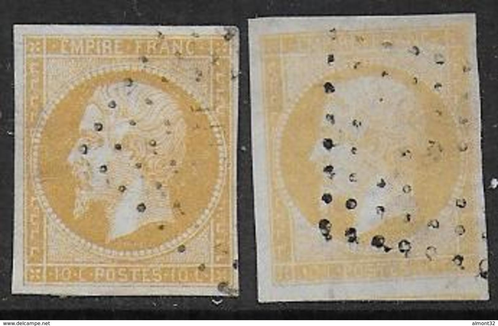 Napoléon N° 13Aa Et 13Al - Cote : 150 € - 1853-1860 Napoléon III