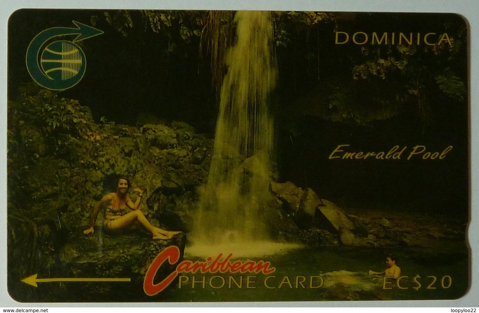 DOMINICA - GPT - 4CDMB - $20 - DOM-4B - Emerald Pool - White Strip - Used - Dominica
