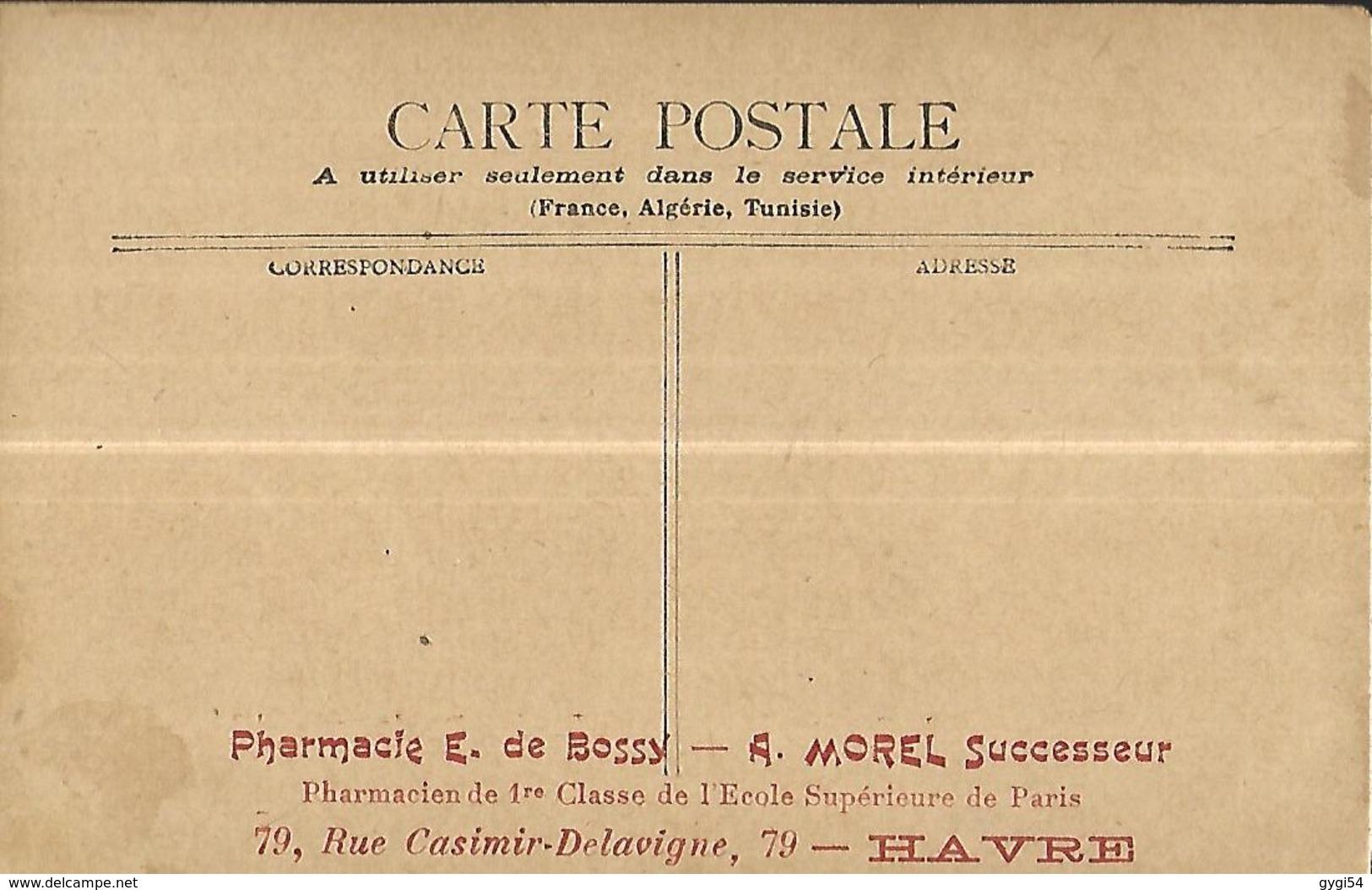 Paris  Boulevard Sébastopol & Place Du Chatelet  Carte Publicitaire Pour Une Pharmacie Attelage Urbain - Transport Urbain En Surface
