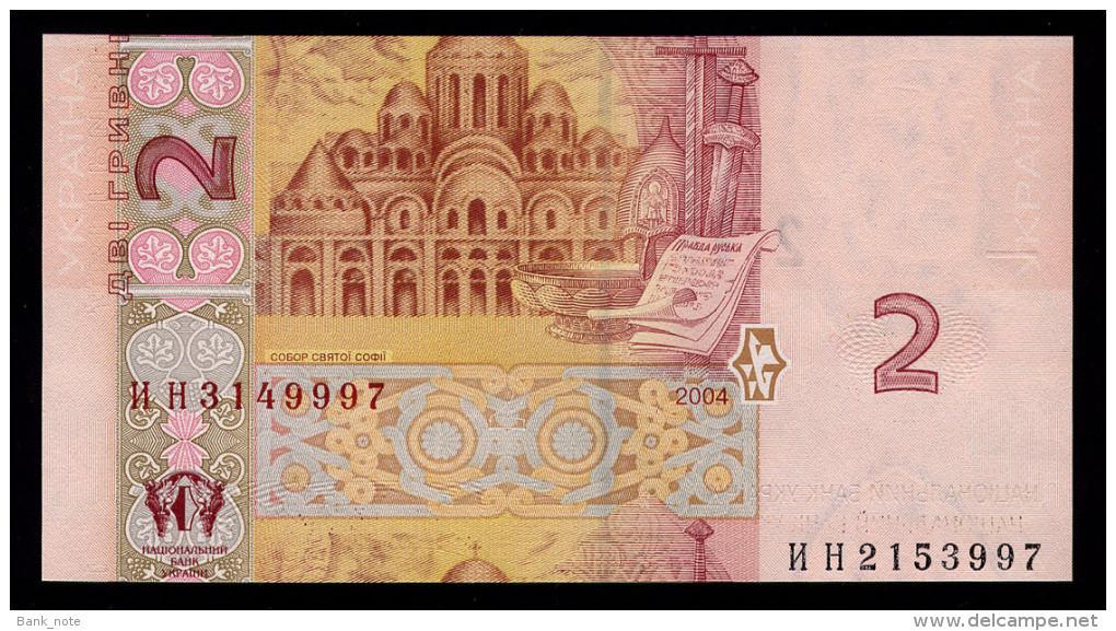UKRAINE 2 HRYVNI 2004 TIGIPKO CUT ERROR Pick 117a Unc - Ukraine