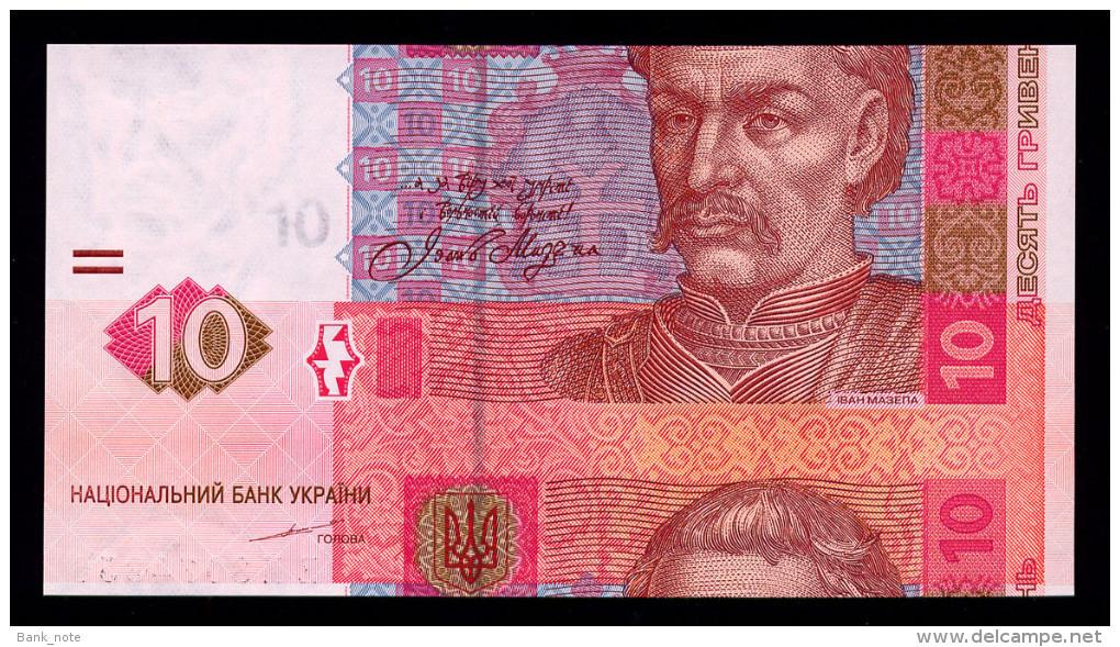 UKRAINE 10 HRYVEN 2004 TIGIPKO CUT ERROR Pick 119a Unc - Ukraine