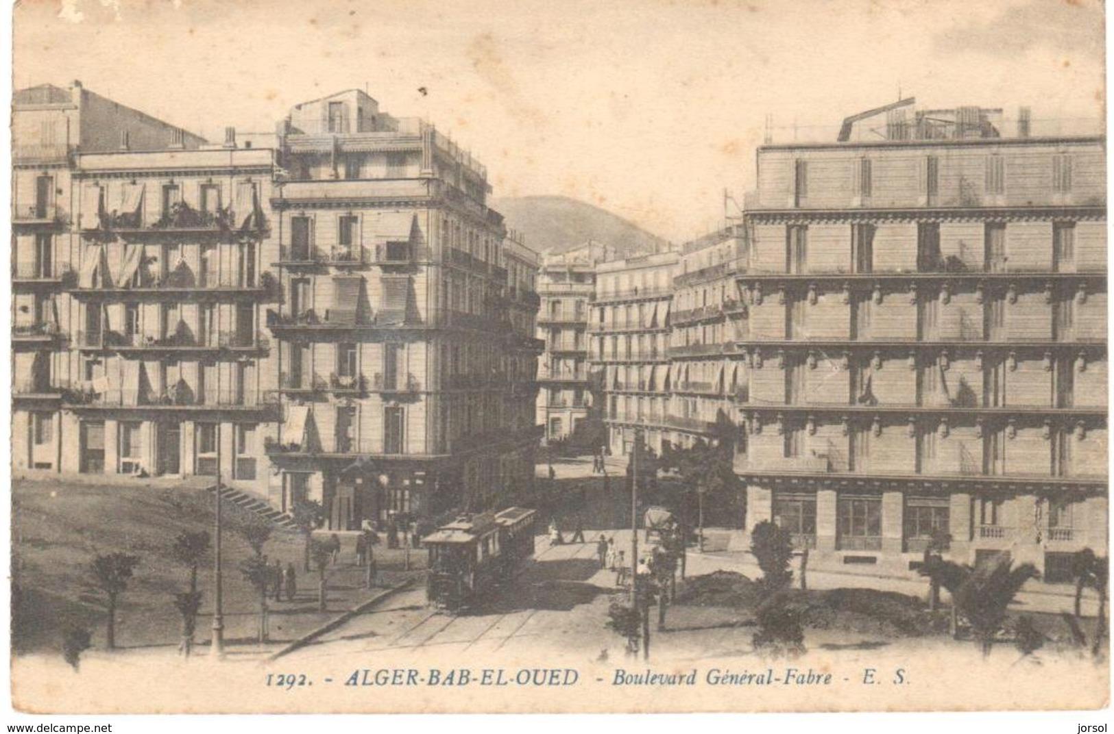 POSTAL   ALGER-BAB-EL-OUED  -ARGELIA  - BOULEVARD GÉNÉRAL-FABRE - Otros