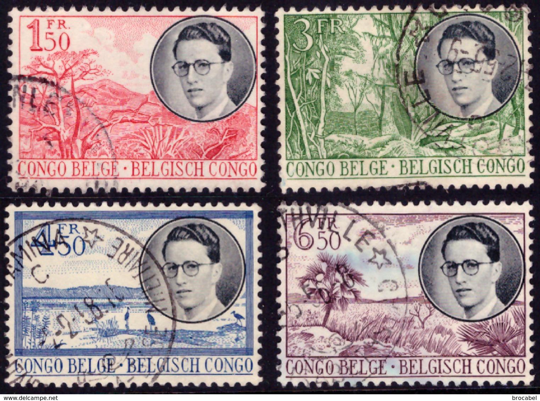 Congo 0333/36 (o)  Baudouin - 1947-60: Oblitérés