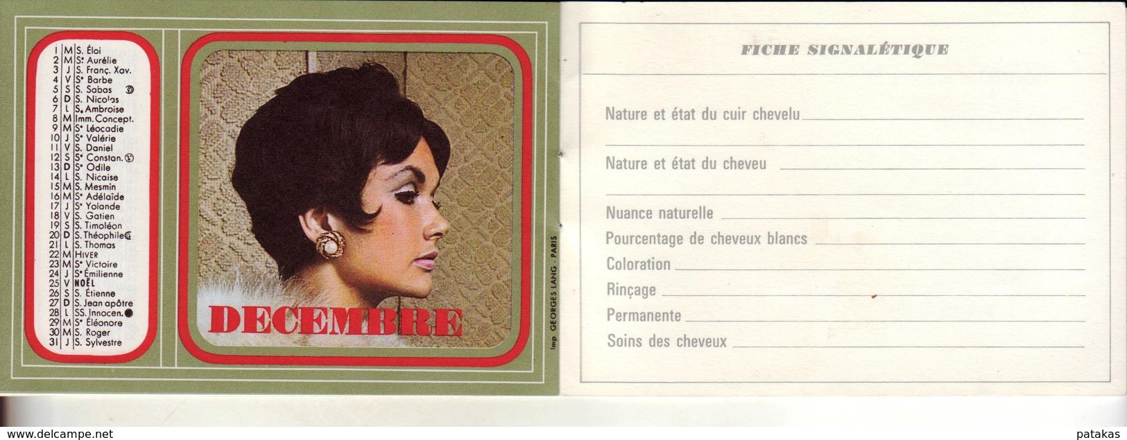 Calendrier 1970 Publicitaire Salon De Coiffure DUPRAZ Paris - Calendriers
