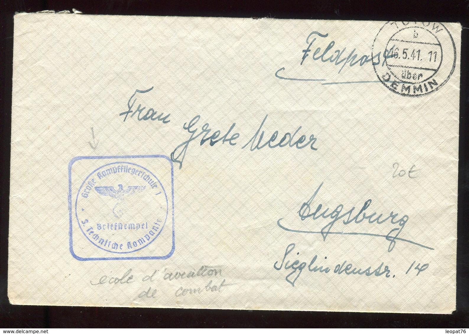 Allemagne - Enveloppe En Feldpost ( école D 'aviation De Combat ) De Tutow En 1941 - N307 - Deutschland