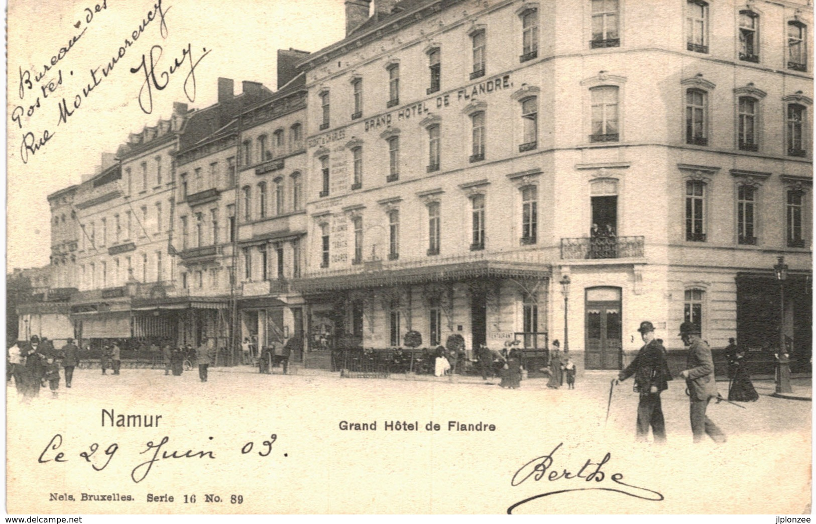 NAMUR    Grand Hotel De Flandre. - Namen