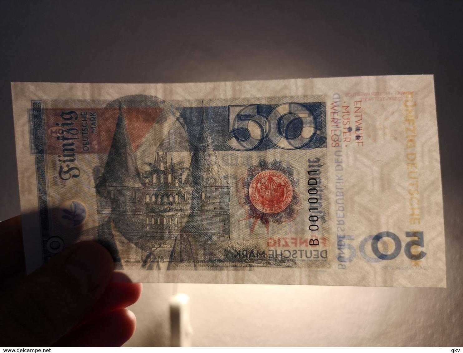 GERMANY 50 Mark 2018 UNC. Willy Brandt. Private Essay. Specimen. - Billets