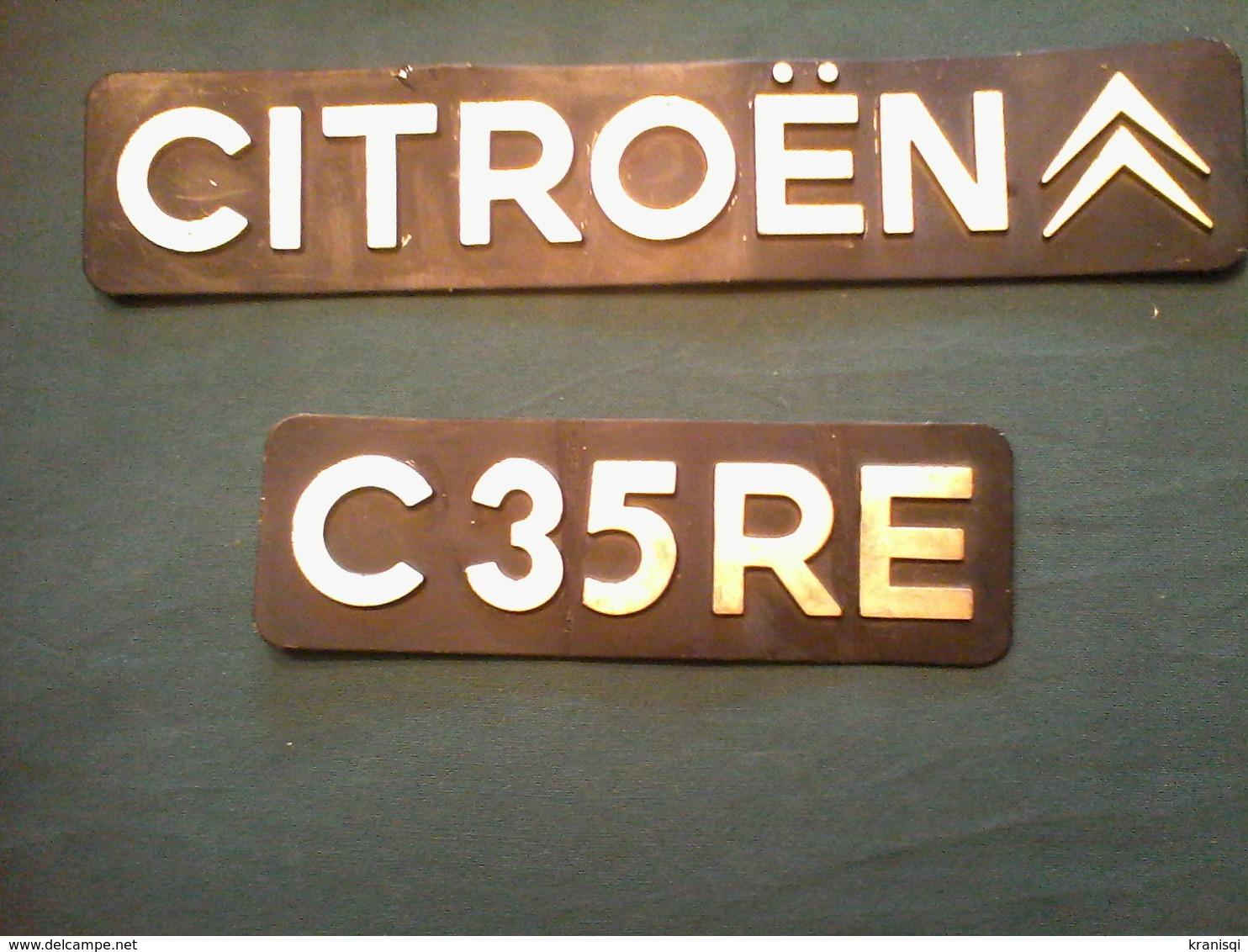 Plaque Minéralogique  Ancienne De  CITROEN - Number Plates