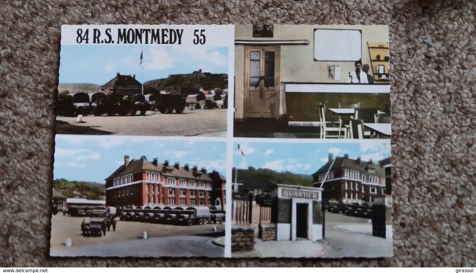 CPSM MONTMEDY MEUSE QUELQUES VUES DU 84 E R S MONTMEDY 55 QUARTIER MILITAIRE - Montmedy