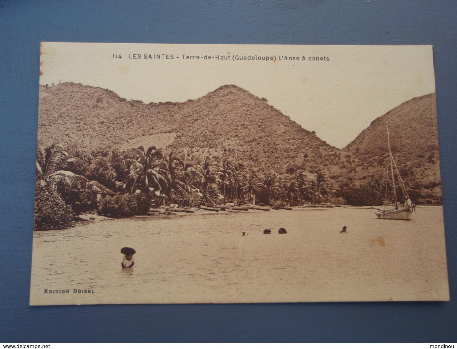 Cpa LES SAINTES Terre-de-Haut (Guadeloupe) L'Anse à Canots - Guadeloupe