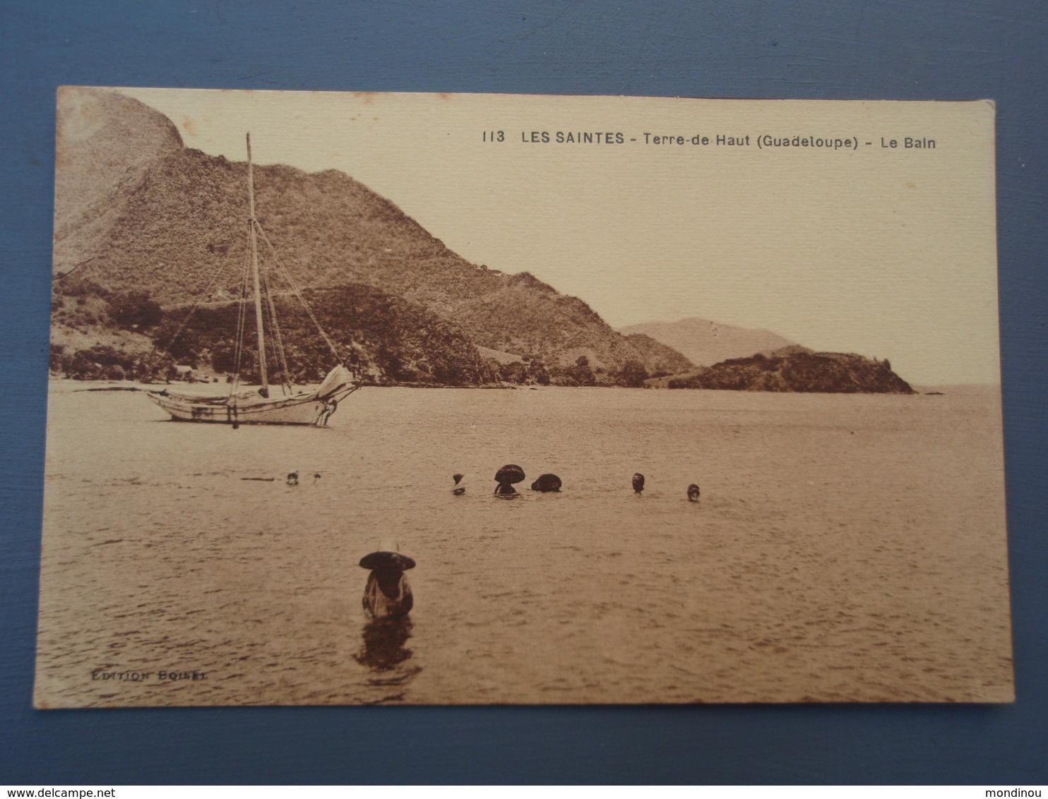 Cpa LES SAINTES Terre-de-Haut (Guadeloupe) Le Bain - Guadeloupe