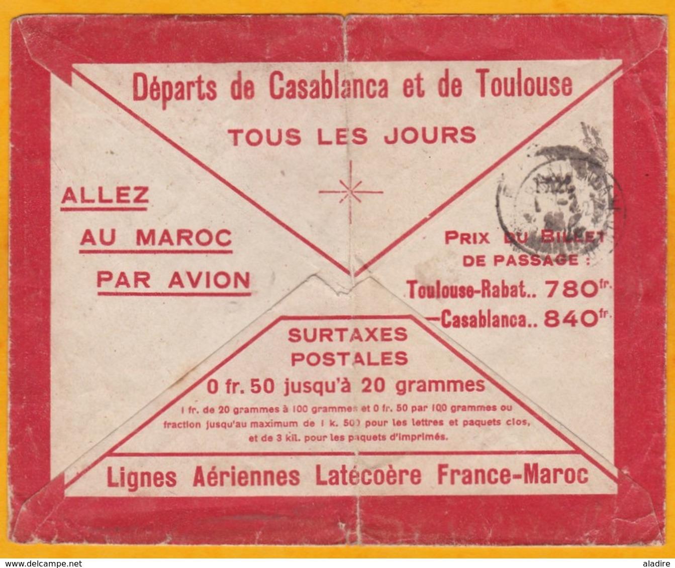31 01 1923 - Précurseur Avion Ligne Latécoère France-Maroc - Enveloppe De Fez Vers St Germain En Laye - Affrt 75 C - Morocco (1891-1956)