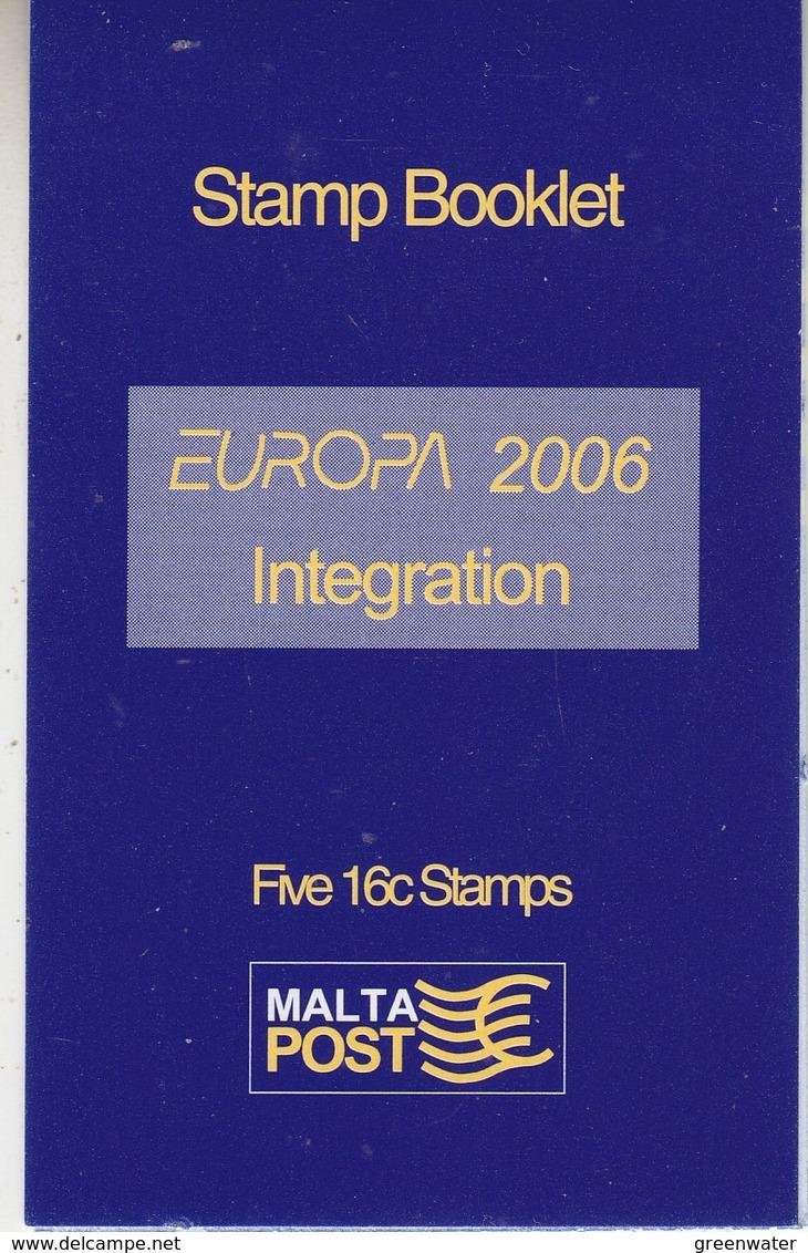 Europa Cept 2006 Malta Booklet ** Mnh (41384C) - Europa-CEPT