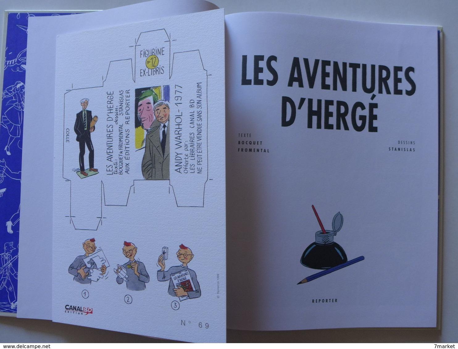 Bocquet, Fromental & Stanislas - Les Aventures D'Hergé / 1999 EO + L'ex-libris - Autres