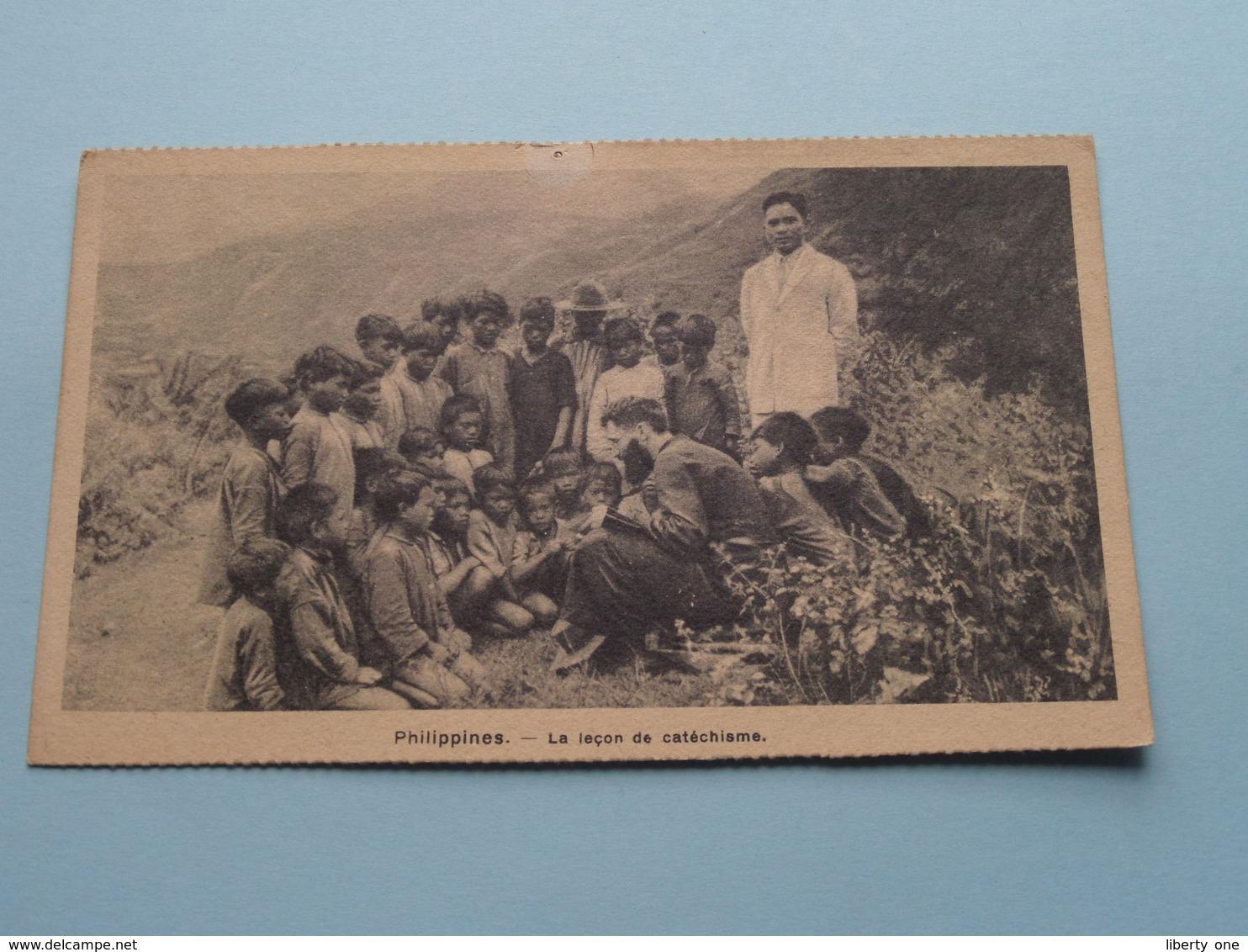 PHILIPPINES La Leçon De Catéchisme: Missiën Van SCHEUT ( Punaise ) Anno 19?? ( Zie Foto Voor Details ) ! - Missions