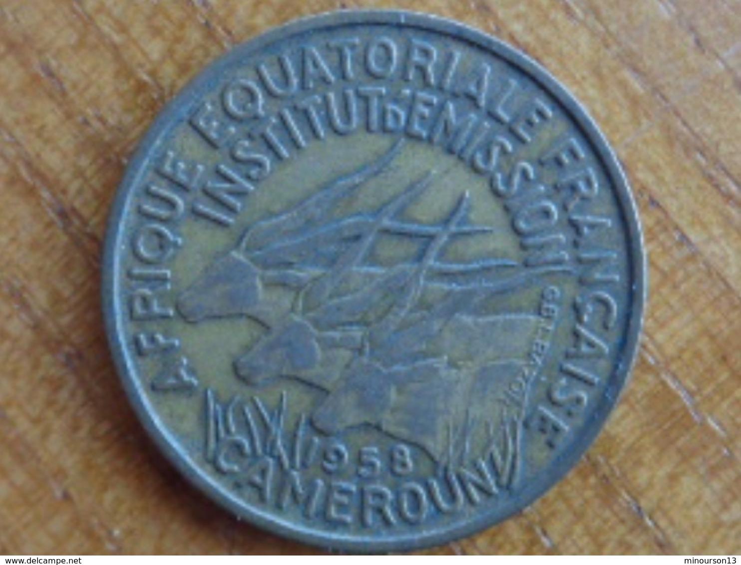 A.E.F CAMEROUN : 25 FRANCS 1958 - Cameroun