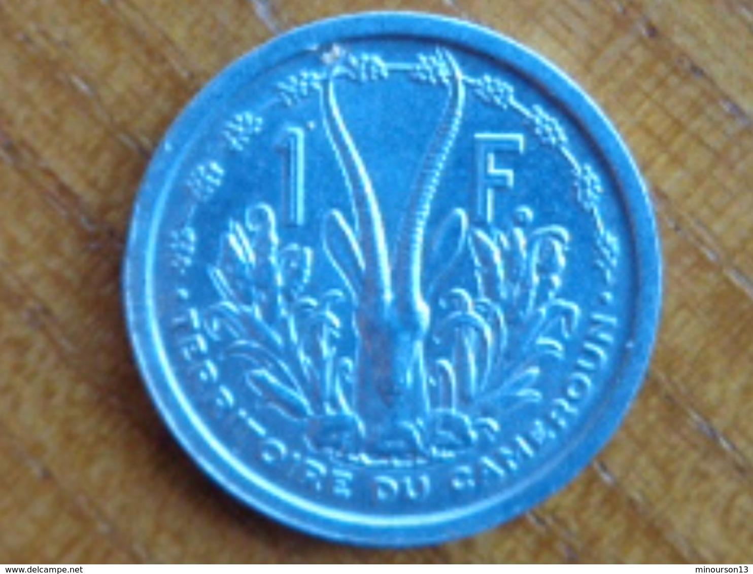 TERRITOIRE DU CAMEROUN : FDC 1 FRANC ALU 1948 - Cameroun