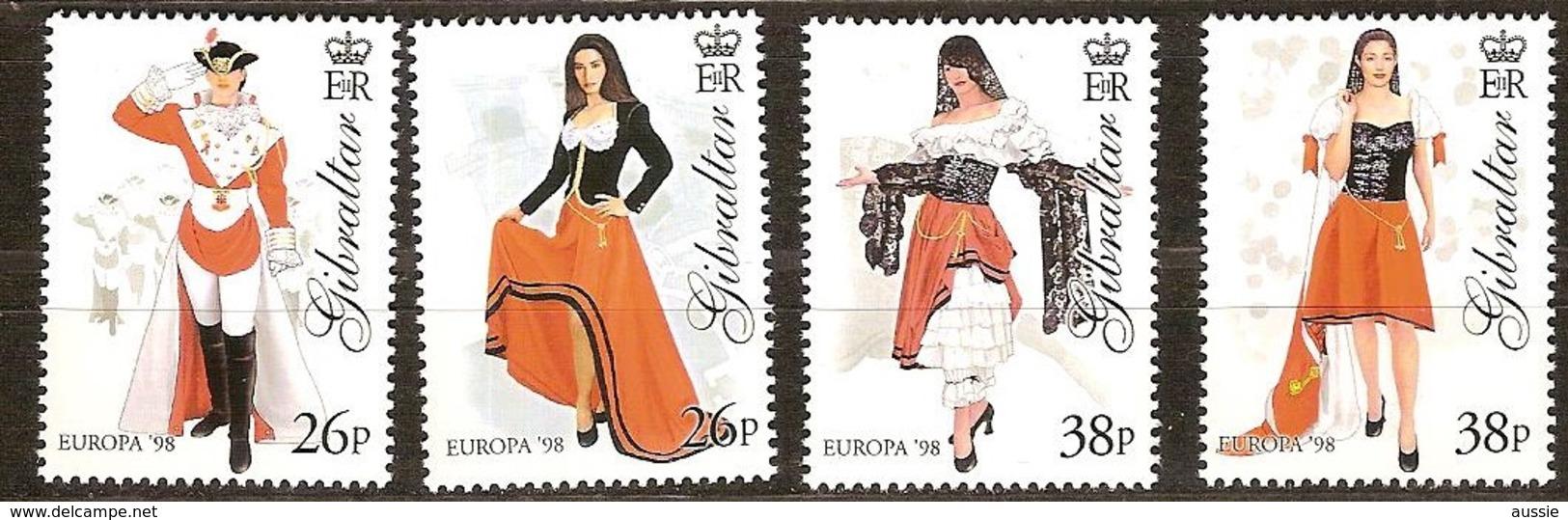 Gibraltar 1998 Yvertn° 835-838 *** MNH Cote 7 Euro CEPT Europa - Gibraltar