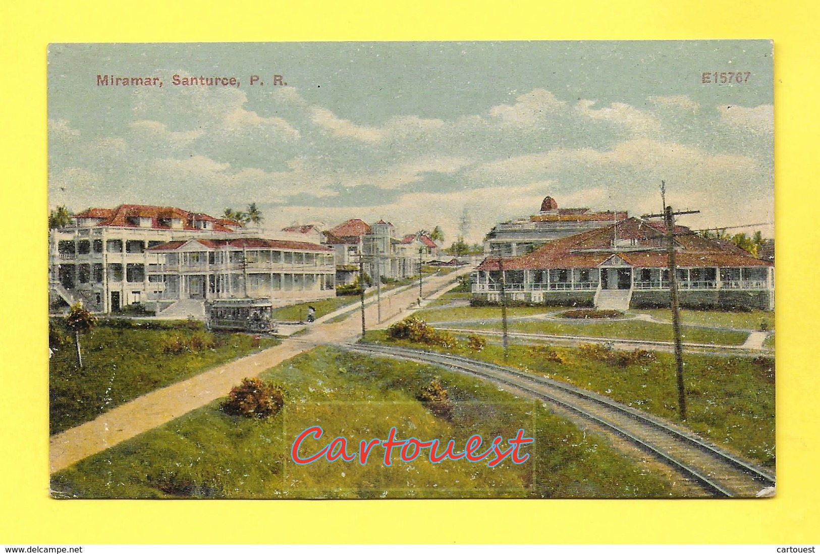 CPA MIRAMAR SANTURCE E15767 Tram - Tramway ( SAN JUAN PORTO RICO )  Chromo - Puerto Rico