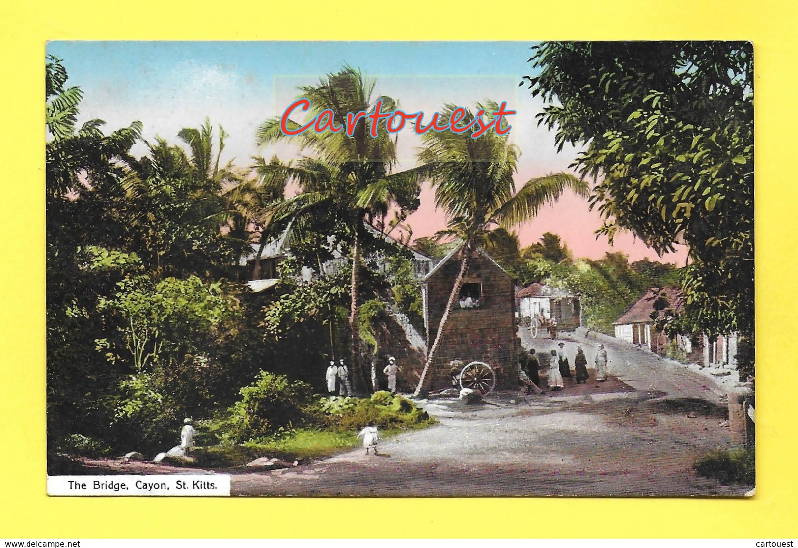 CPA ¤¤ St KITTS Cayon ¤¤ The Bridge ¤¤ 1915 ¤¤ ( Chromo ) - Saint-Christophe-et-Niévès