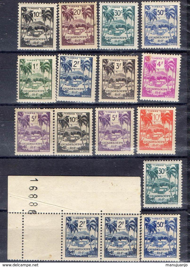 FRANCE Et COLONIES !  Timbres Anciens TAXE NEUFS* De GUADELOUPE Depuis 1947 - Guadeloupe (1884-1947)