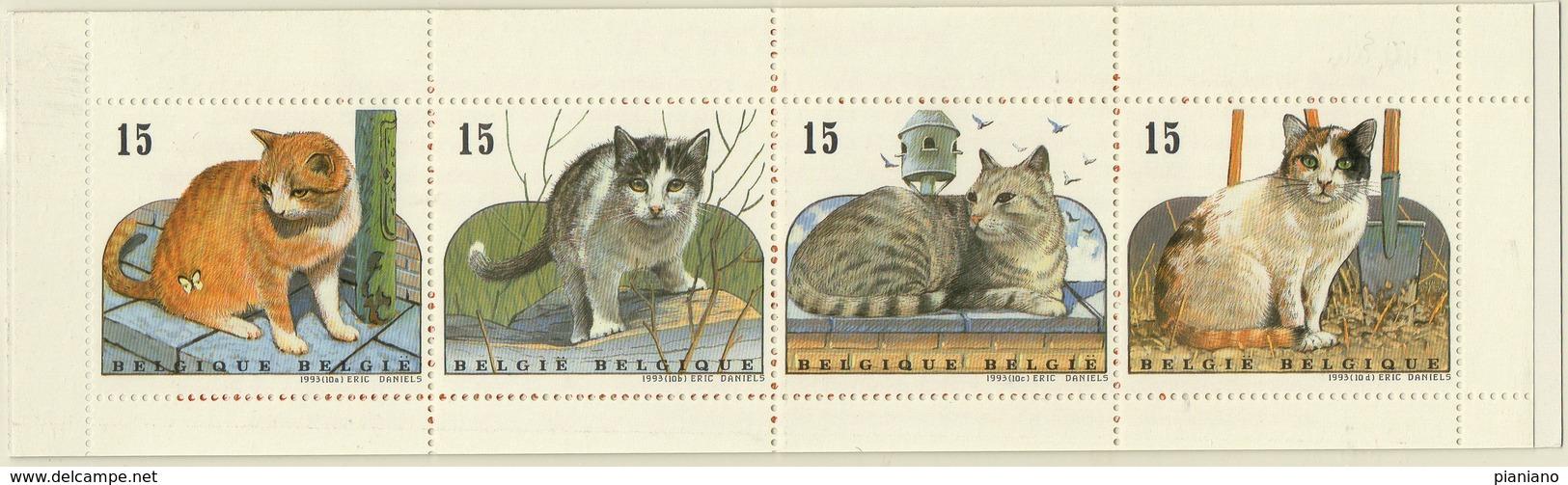 PIA  - BELGIO  -  1993  : Fauna - Gatti Europei  Emessi In Carnet -    (YV  C2521) - Belgium