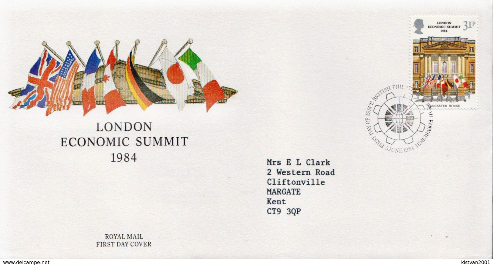 Great Britain Stamp On Used FDC - Covers