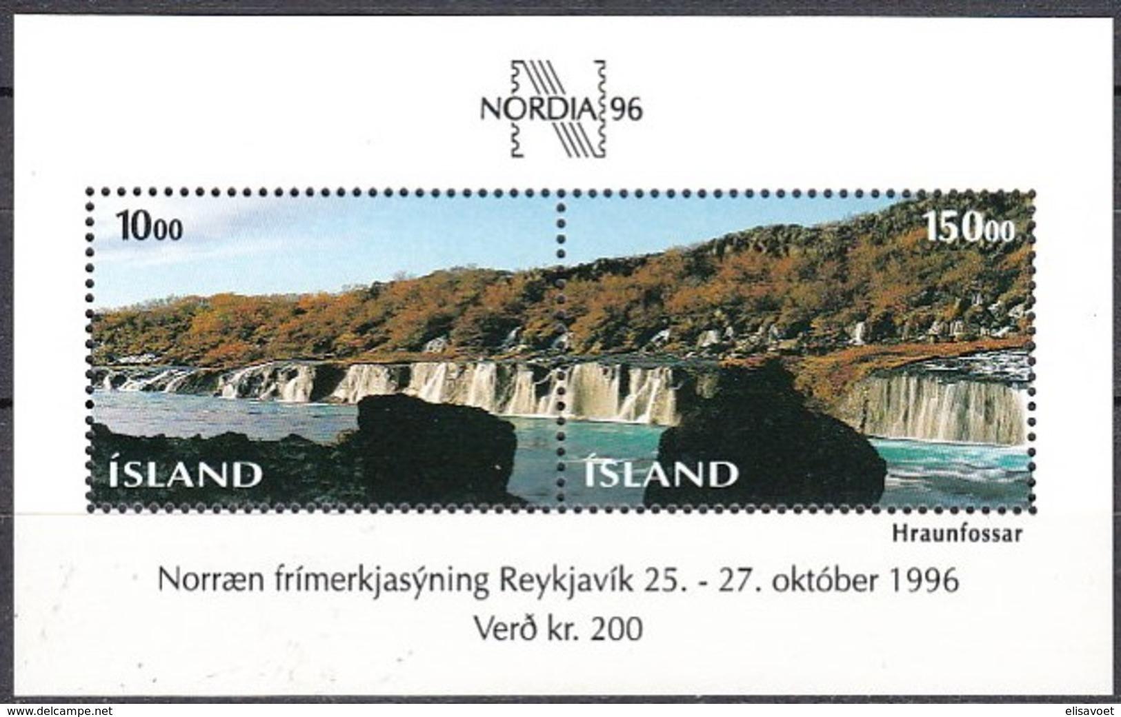 Islande Iceland Ijsland 1995  Yvertn° Bloc 18 *** MNH Cote 9 Euro Nordia 96 - Blokken & Velletjes
