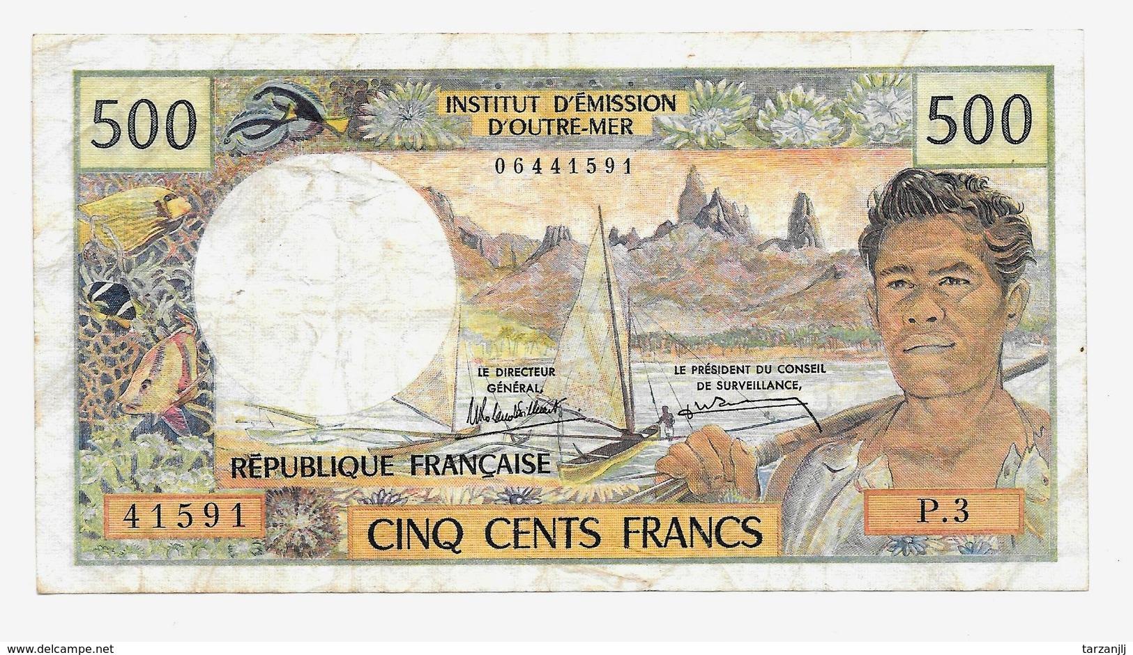 Billet De 500 Francs Institut D'émission D'outre Mer Papeete Non Daté - Papeete (Polynésie Française 1914-1985)