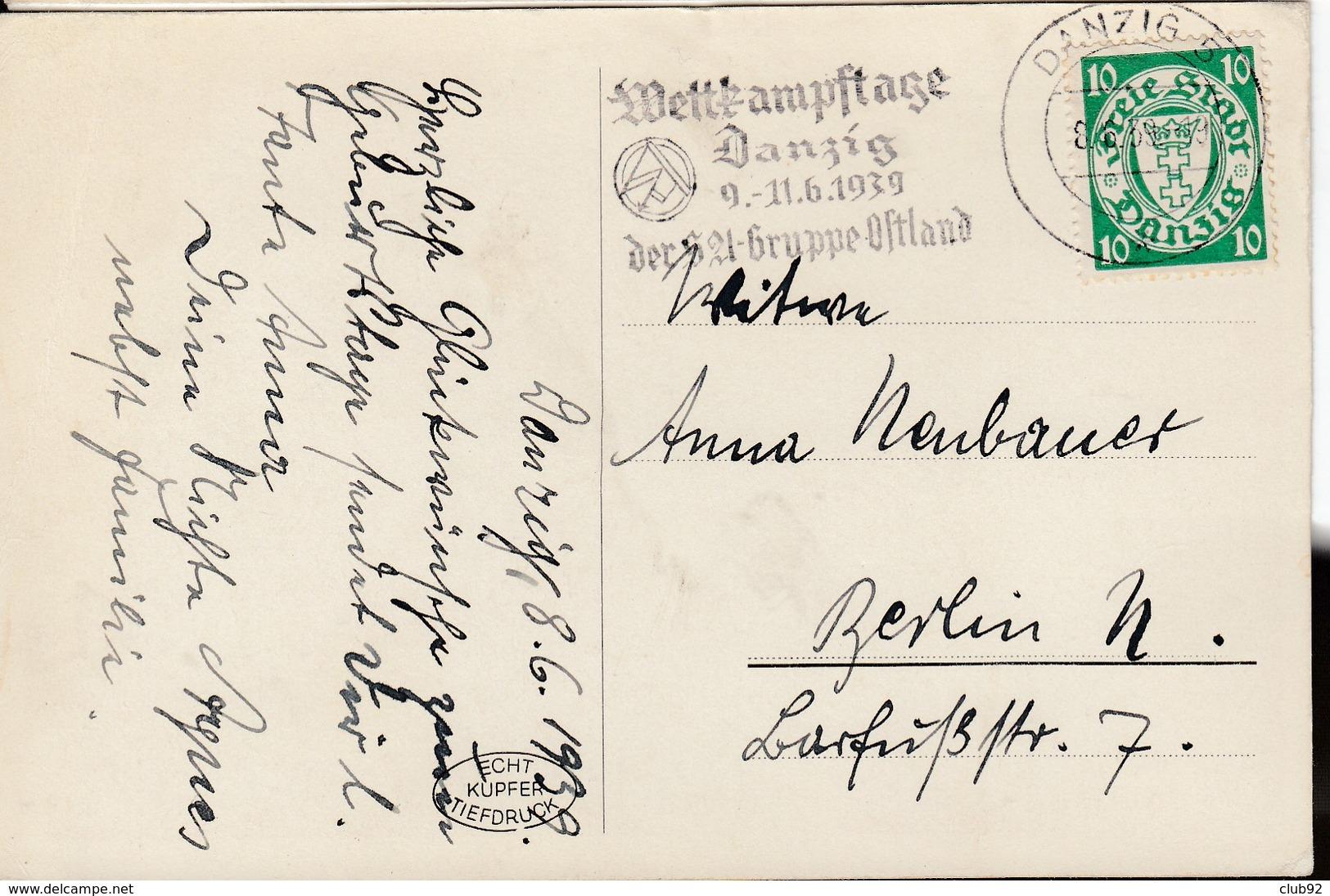 Bel Ensemble De  32 PIECES ( Lettres - EP - Cartes Postales)  Ttes Affranchies De Dantzig Ou DR Avec Flammes Diverses , - Dantzig
