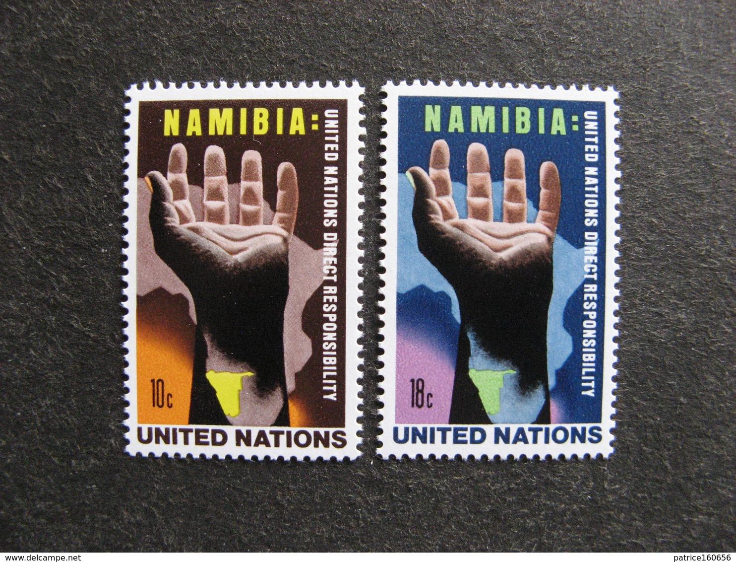 O.N.U. Siège De New-York: TB Paire N° 255 Et N° 256 Neufs XX - New York -  VN Hauptquartier
