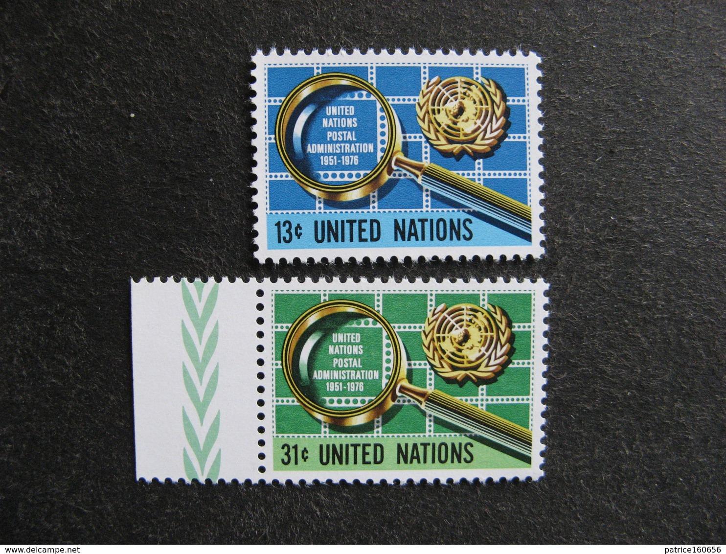 O.N.U. Siège De New-York: TB Paire N° 269 Et N° 270, Neufs XX - New York -  VN Hauptquartier