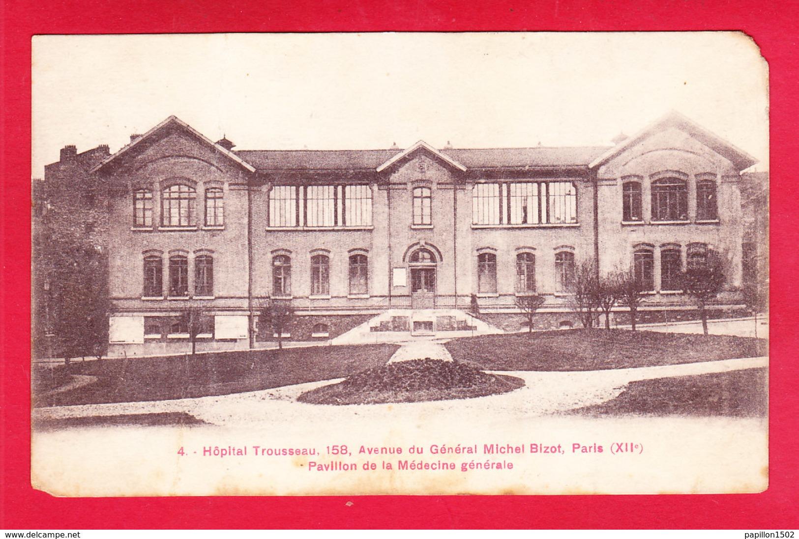 F-75-Paris-906D04  Hôpital TROUSSEAU, Pavillon De La Médecine Générale, Cpa - Arrondissement: 12