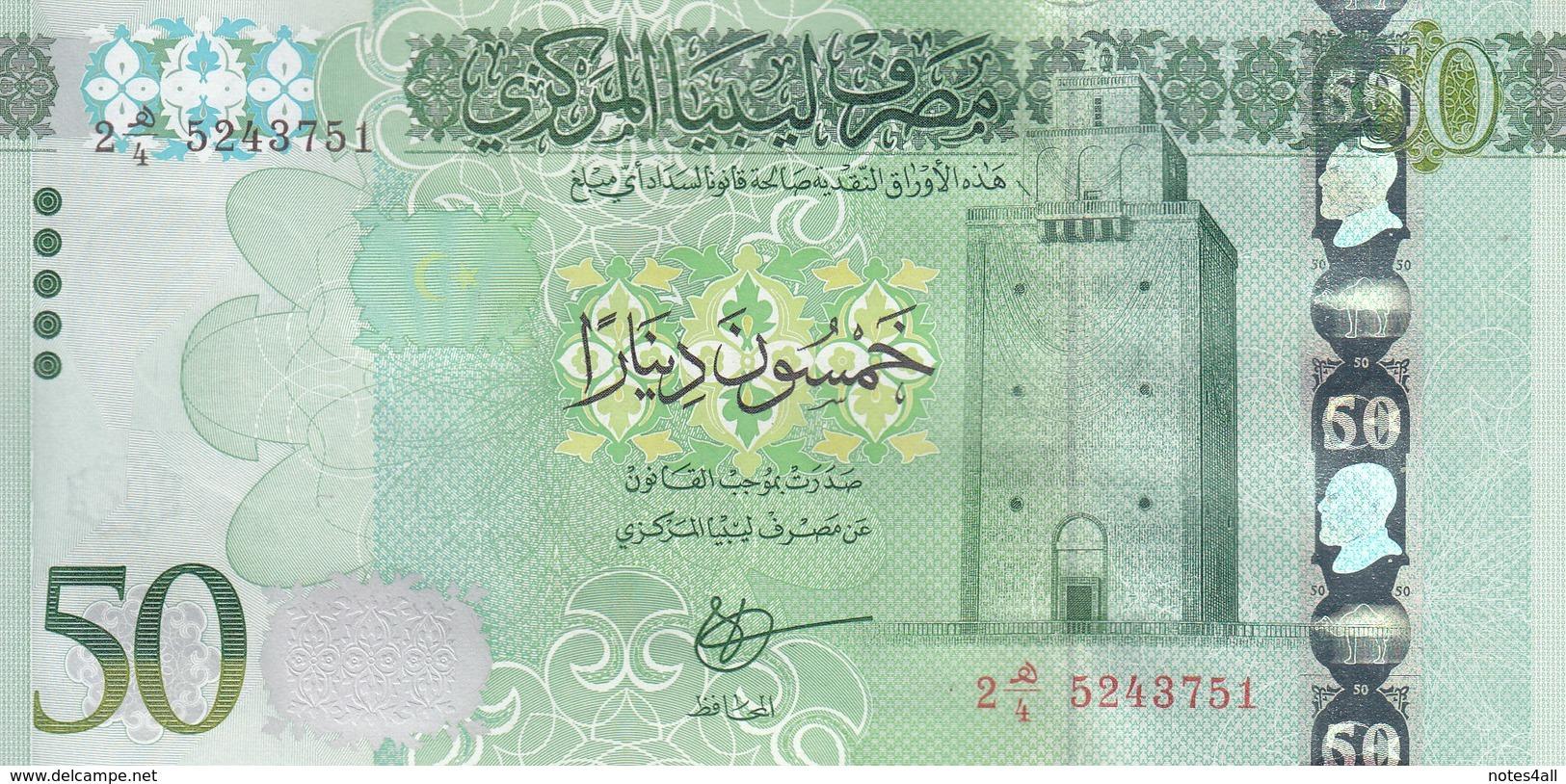 LIBYA 50 DINARS 2015 2016 P-84 AU/UNC */* - Libye