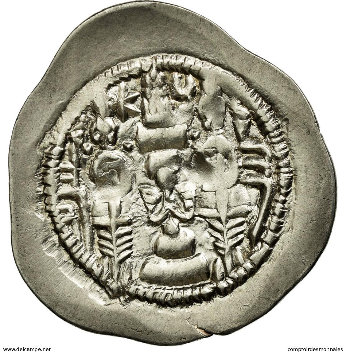 Monnaie, Khusrau I, Drachme, TB+, Argent - Orientales