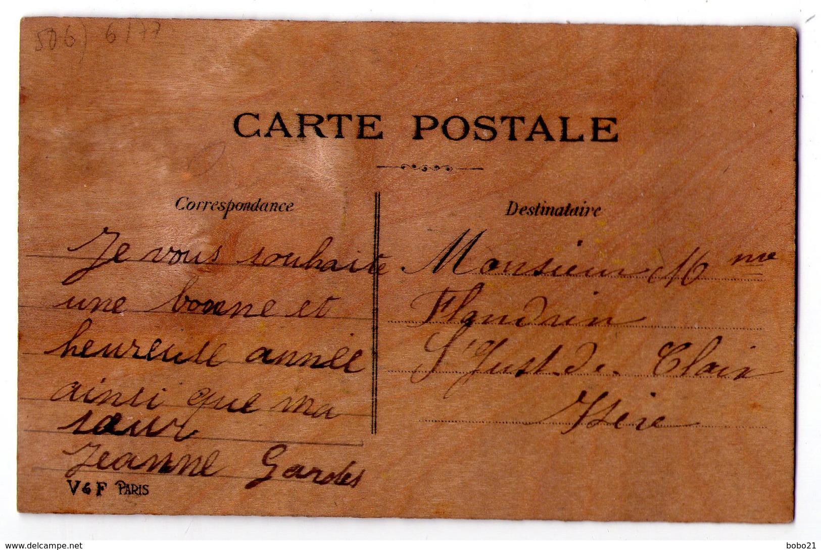 """3474 - Cp En Bois - """" Bonne Année """" - - Cartes Postales"""