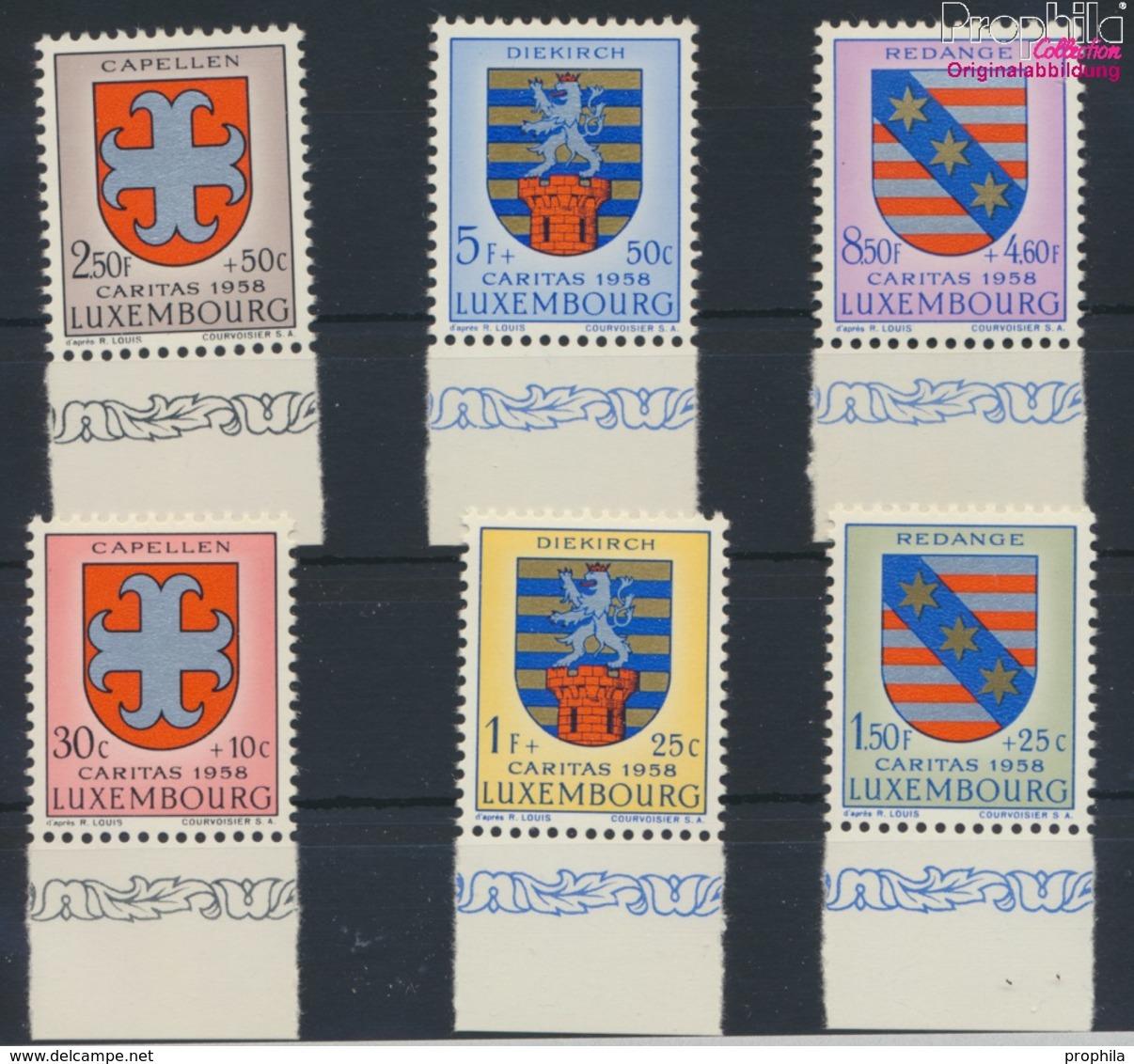 Luxemburg 595-600 (kompl.Ausg.) Postfrisch 1958 Kantonalwappen (9256819 - Luxemburg