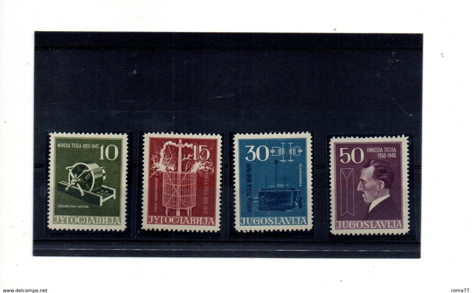 EDY924 - YUGOSLAVIA 1956  Tesla Serie Valori Gomma Integra  *** - 1945-1992 Repubblica Socialista Federale Di Jugoslavia