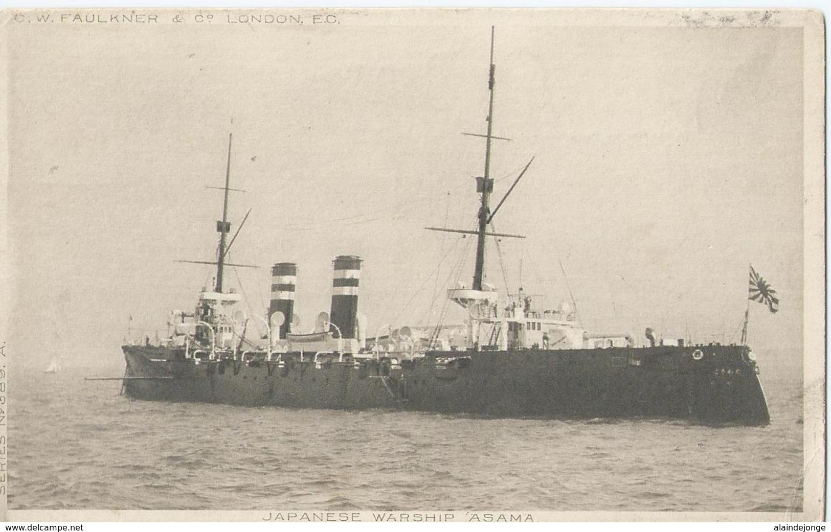 "Japanese Warship "" ASAMA "" C.W. Faulkner & Co - Series N° 389 A - Boot - Boat - Bateau - Ship - Schiff - Guerre"