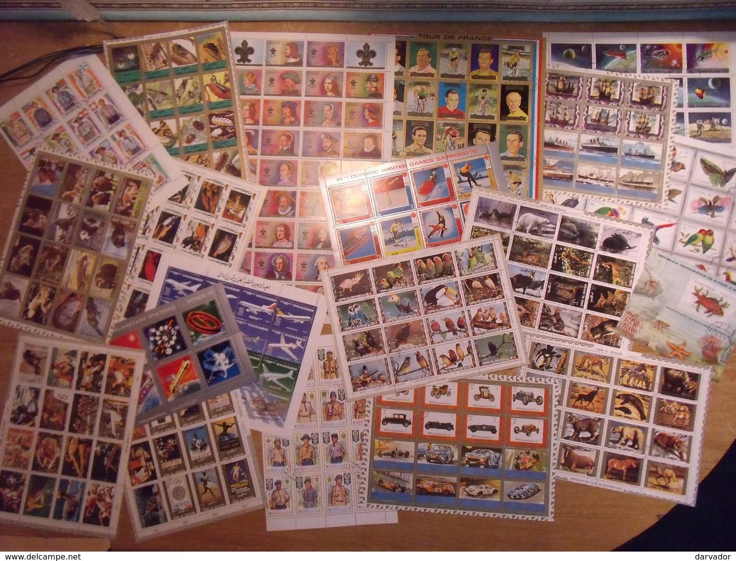 LIQUIDATION / TC5 / Collection De 34 Blocs De Timbres Divers MONDE Tous Oblitérés  TB (nombreuses Thématique ) - Timbres