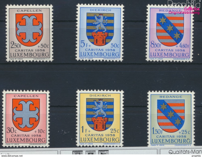 Luxemburg 595-600 (kompl.Ausg.) Postfrisch 1958 Kantonalwappen (9256810 - Luxemburg
