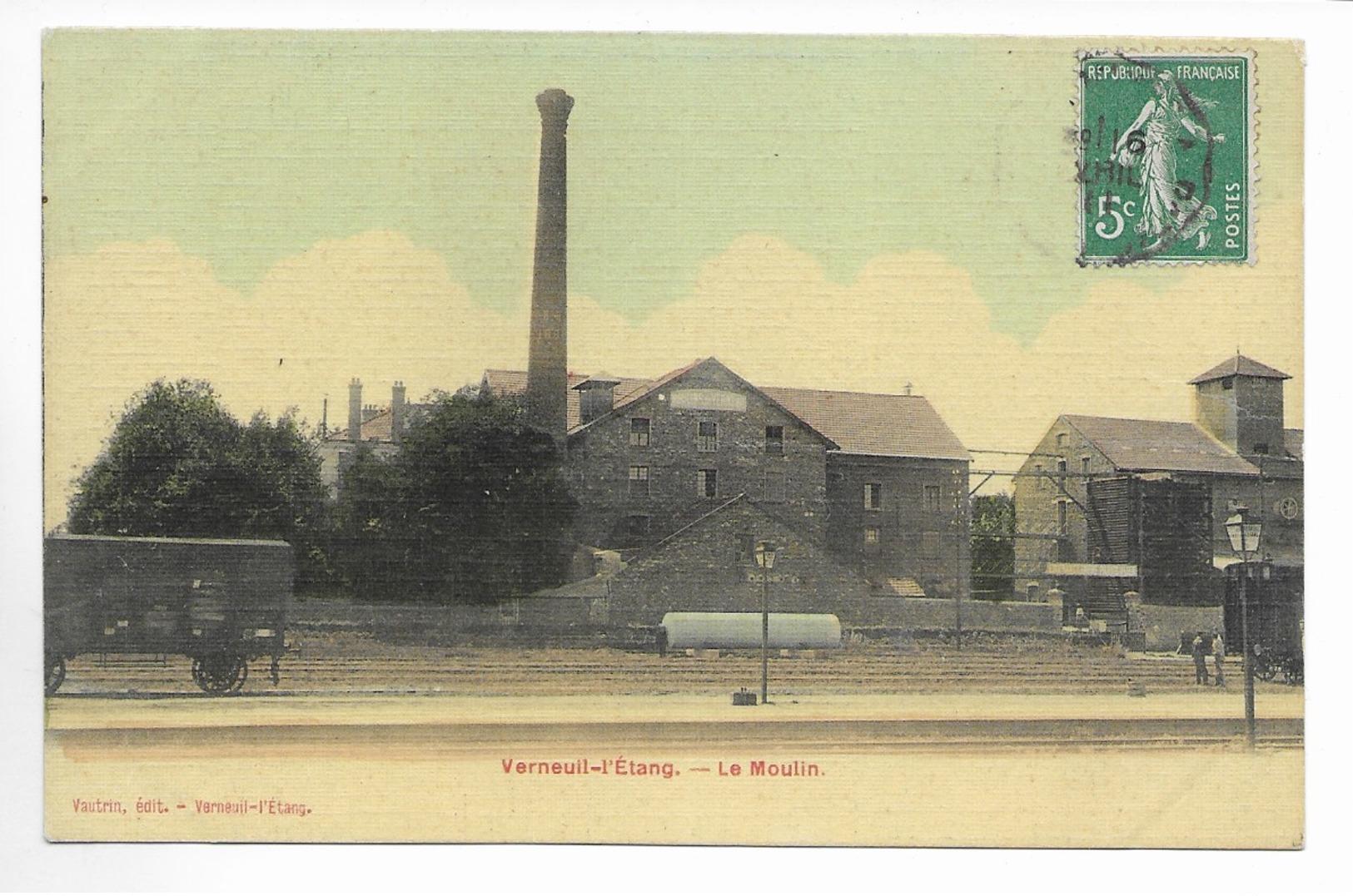 Verneuil-L'Etang  - Le Moulin -CPA Toilée - Frankrijk