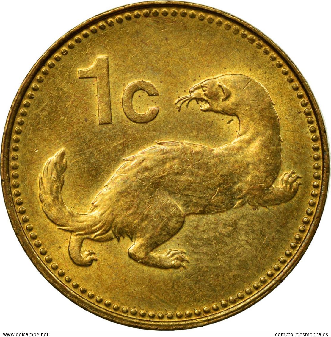 Monnaie, Malte, Cent, 1991, British Royal Mint, TTB, Nickel-brass, KM:93 - Malte