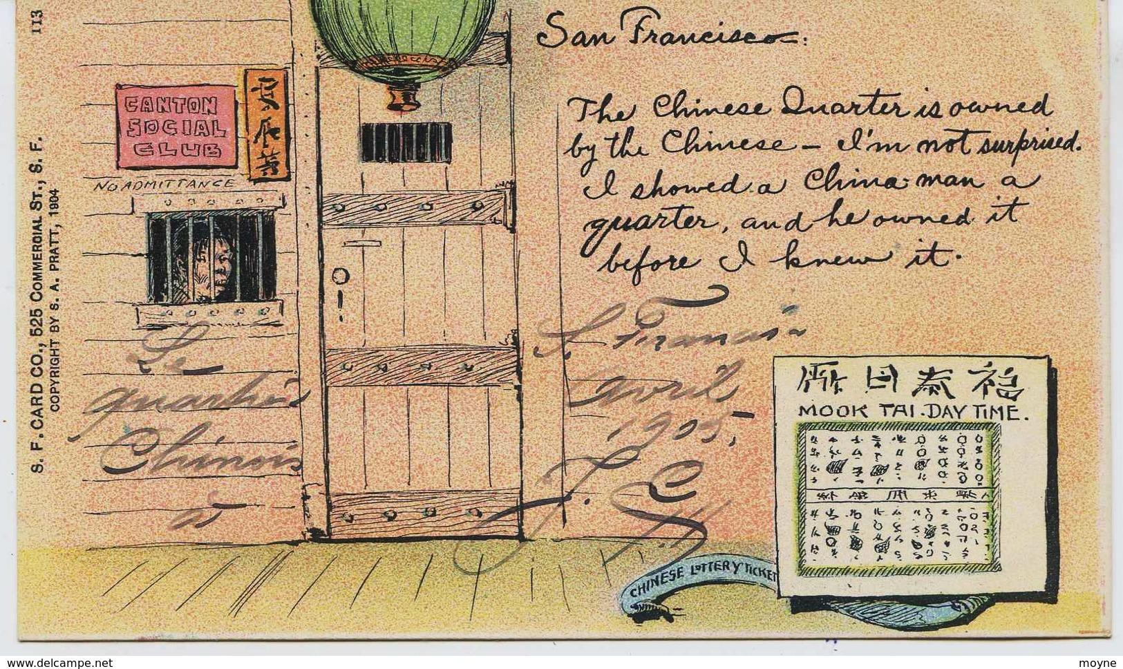 11314 -  U.S.A.  -  CHINE  -  SAN FRANCISCO  :  LE QUARTIER CHINOIS    RARE - San Francisco