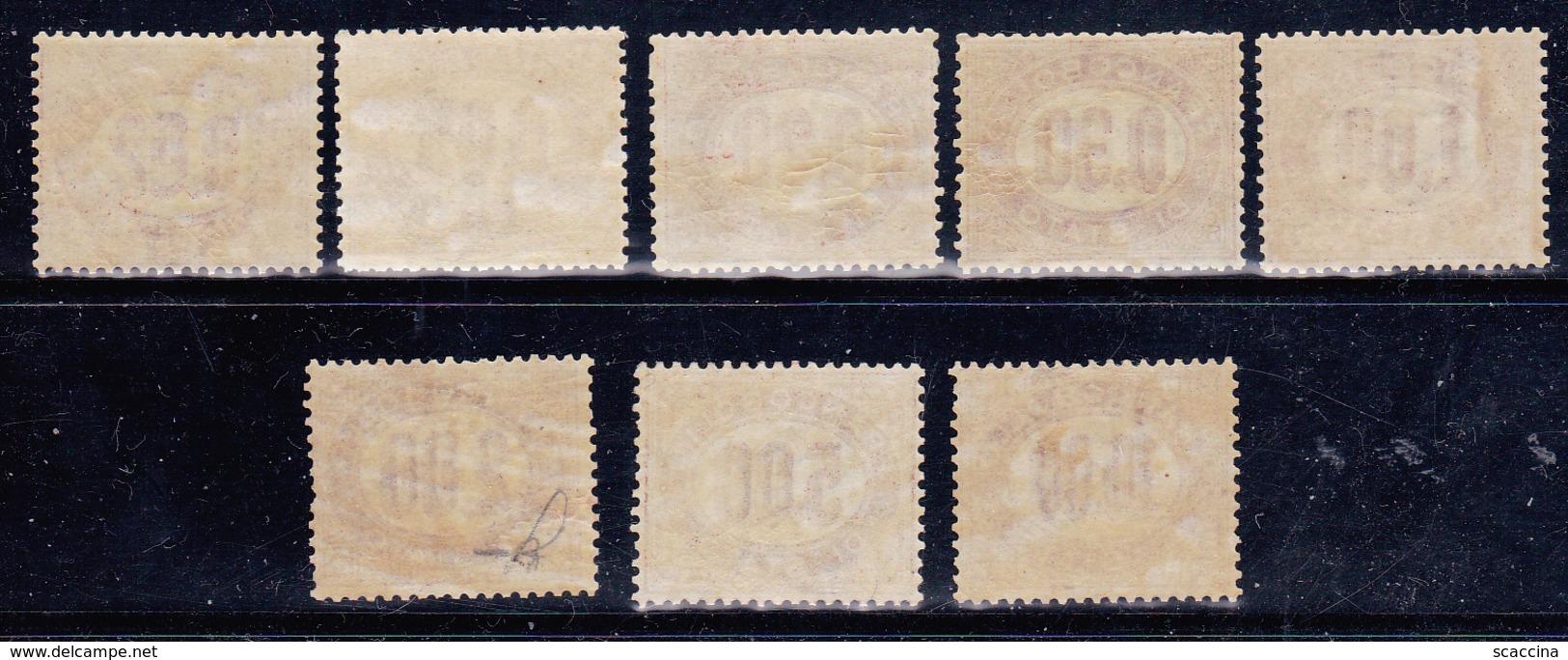Vittorio Emanuele II > Servizi  1875 Sassone 1-8 Serie Cpl 8 Val. MNH** - Servizi